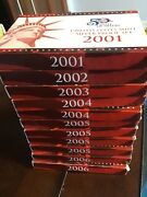 2001-2006 Silver Proof Set Lot 11 Sets Original With Box And Coa 2002 2003 2004