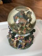 Butterfly Garden Flowers Bird House Musical Snow Globe Unknown Song