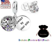New Authentic Pandora Sterling Silver S925 Ale Always By Your Side Dangle Charm