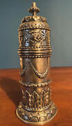 Rare Antique Sterling Silver Muffineer / Shaker Repousse England Ridley Hayes