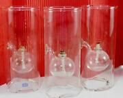 Classic Wolfard Three Hand Blown Glass Oil Lamps With 3 Wicks 9