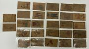 Large Lot Of 27 Antique Leather Post Cards Various Locations Many From Colorado