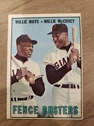 1967 Topps 423 Fence Busters Willie Mays And Willie Mccovey