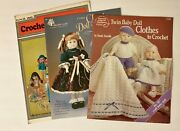3 Crochet Pattern Bks-15 Porcelain Classic Doll Clothes,7½ Dolls,15 Baby Doll
