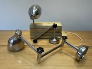 Vintage Industrial Articulated Pair Of Ussr Workshop Lamps, Anglepoise