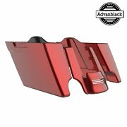 Hard Candy Hot Rod Red Flake Stretched Extended Saddlebag For 14+ Harley Touring