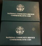 1996-s 1 National Community Service Proof And Uncirculated Commemorative Coins