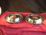 Pair Of 1957 Buick Road Master Hubcaps Wheel Covers Antique Vintage Classic