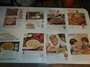 Vintage Campbell Soup Advertisements Life Magazine 10.5 X 14 Lot Of 18 Ads
