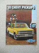 1981 Chevrolet Pickup Truck Advertising Booklet / Chevy Usa / - ----