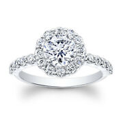 Solitaire 1.20 Ct Real Round Diamond Engagement Ring Solid 950 Platinum Size 6 7