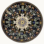42 Inches Marble Conference Table Top Elegant Look Dining Table With Floral Art