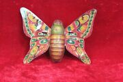 Wind Up Butterfly Tin Toy Old Vintage Antique Rare Home Decor Collectible Pr-86