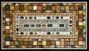 36 X 60 Inches Marble Meeting Table Top Inlay Dining Table With Different Look