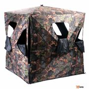 Ground Hunting Blind Portable Deer Pop Up Camo Hunter Mesh Weather Proof- Rsenio