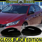 For 2019 2020 2021 Nissan Altima Gloss Black Replacement Mirror Cover Caps