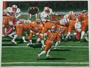 Rick Rush Clemson Tigers Football Signed Numbered Limited Edition Serigraph