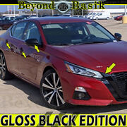 For 2019-21 Nissan Altima Gloss Black Door Handle Covers+grill Cover+mirror Caps