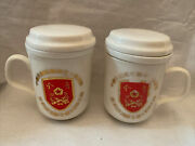 Two 21st Artillery Command The Army Of Republic Of China Tea Infuser Cups.