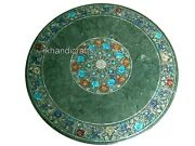 42 Inches Marble Hallway Table Top With Exclusive Design Dining Table For Home