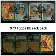 1973 Topps Baseball Unopened 54 Card Rack Pack Bbce Authenticated Sealed