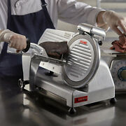 New 10 Commercial Manual Gravity Feed Electric Countertop Meat Slicer, 1/4 Hp