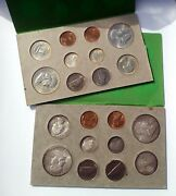Rare 1958 United States P And D Uncirculated Double Mint Set - 20 Coin Set