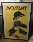 Mossant French Hats Leonetto Cappiello 1938 Millinery Advertising Repro Poster