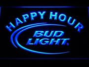 Bud Light Beer Happy Hour Led Neon Sign For Game Room, Bar,man Cave Us Shipper