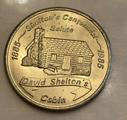 Vintage Brass 1985 Sheltonand039s Centennial Coin In Circulated Condition 1 1/4 Inch