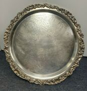 Vintage F.b.rogers Silverplate Co Silver On Copper Tray