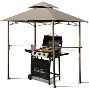 8' X 5' Outdoor Barbecue Grill Gazebo Canopy Tent Bbq Shelter