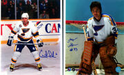 2 - Autographed St. Louis Blues Alumni Glossy Photos Gilles Gratton And Giles