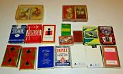 Vintage-newer Playing Cards Lot Miniand039s Streamline Whitman Aviator Delta Lot