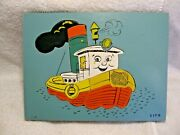 Vintage Collectible Sifo Wooden Tugboat 9pc Puzzle-steam Whistle-boiler-nautical