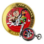 2015 Canada 100 - Looney Tunes Bugs Bunny And Friends - 14k Gold Coin W/ Watch