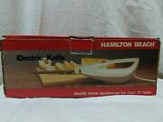 Hamilton Beach Electric Knife 275wstainless Steel Blades Recessed On/off Switch