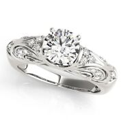 Round 0.70 Ct Real Diamond Engagement Ring For Women Solid 950 Platinum Size 6.5