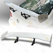 57 Universal Dragon-2 Style Gt Wing Painted White Trunk Adjustable Spoiler Wing