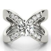 1.10 Ct Real Diamond Women Anniversary Ring Solid 950 Platinum Rings Size 6 7 8