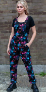 Run And Fly Stretch Twill Galaxy 90and039s Unisex Baggy Dungarees Overalls 8-22
