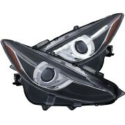 Anzo 121522 Projector Headlights With Halo Black W/amber For 14-17 Mazda 3