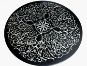 Floral Art Inlaid Marble Coffee Table Top Dinning Table From India Size 48 Inch