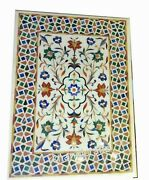 36 X 48 Inches Marble Coffee Table Top Stone Dinette Table With Pietra Dura Art