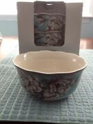 222 Fifth Adelaide Turquoise Bowls Set Of 4 New In Box