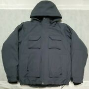 Duluth Trading Co Xl Tall Blue Whaleback Waterproof Hooded Insulated Jacket Coat