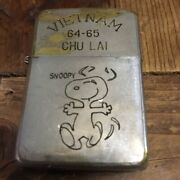 Vietnam Zippo Snoopy Vintage Antique Double-sided Engraved Oil Lighter 1965