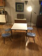 Harry Bertoia Kids Chairs With Knoll T Angle Table
