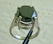 3.57ct Natural Black Diamond Ring Solitaire Certificate Free Dia Tester Size 5