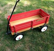 Vintage Radio Flyer Town And Country Wagonearly 80swood4 Removable Sides-nice